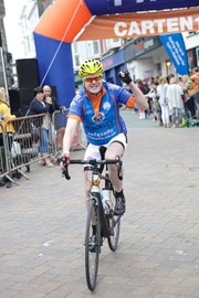 Me at the finish, after nearly 8 hours of cycling!