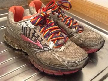 Winter training = muddy trainers
