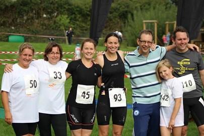 Team Bacon at the Ely Triathlon on Sunday 6th September