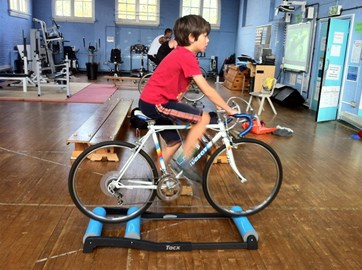 Jude, training for the big ride