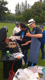 The charity BBQ