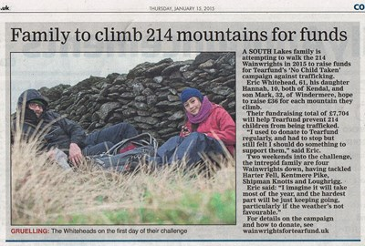 We appeared in the local paper: Westmorland Gazette