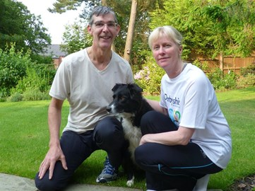 The team: Peter, Carrie and our dog Millie