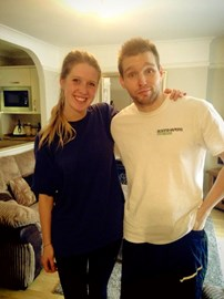 Chris and Ellie after a 13 mile training run
