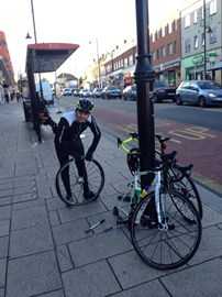 Top Tip. Always take a man-servant on a long bike ride.