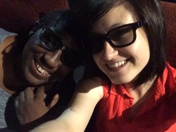 Me and Diane looking snazzy in our 3D specs!