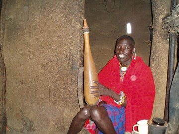 Moses, one of the men from the village