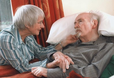Dad & Mum in 2006. Dad has no mobility and control of facial expressions but responds to touch.