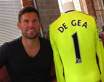 Ben with De Gea shirt