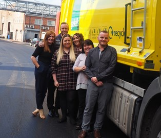 Our team of six sleeping out in Liverpool on 12th October