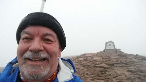 On the summit of Pen y Fan - will be back later for Welsh 3 Peaks