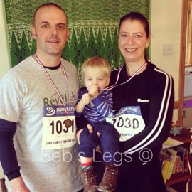 With Seb after the Lode Runners 3 Mile Fun Run