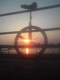Volcanic Sunset Unicycle