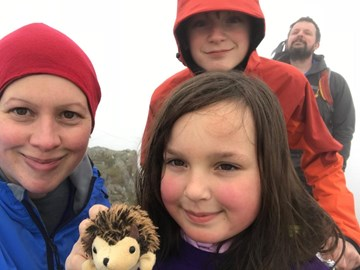 Me and my family at the top of Bowfell