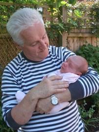 John and baby Tess