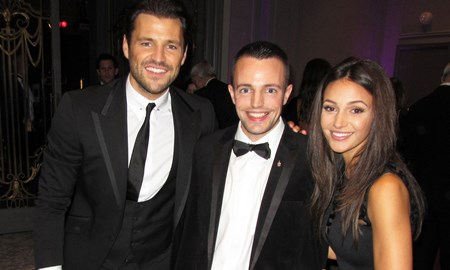 Me with Mark Wright and Michelle Keegan at the Haven House Ball 2015
