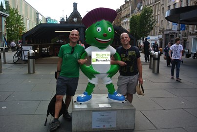Me, David & Clyde supporting Barnardo's in Glasgow