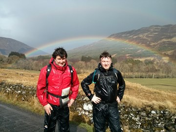 Finlay & Ewan stress test their waterproofs with the Scottish summer