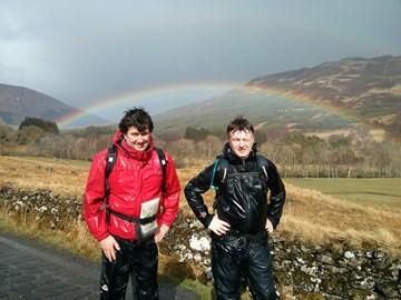 Finlay & Ewan stress test their waterproofs with the Scottish summer