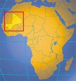 Mali, located in West Africa.
