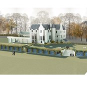 Artists impression of the new bedrooms and extension