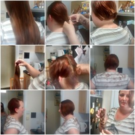 collage of hair start to finish