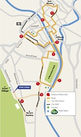 York 10K Route Map