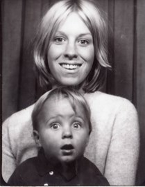 In the photobooth. Julie and Christian, 1968