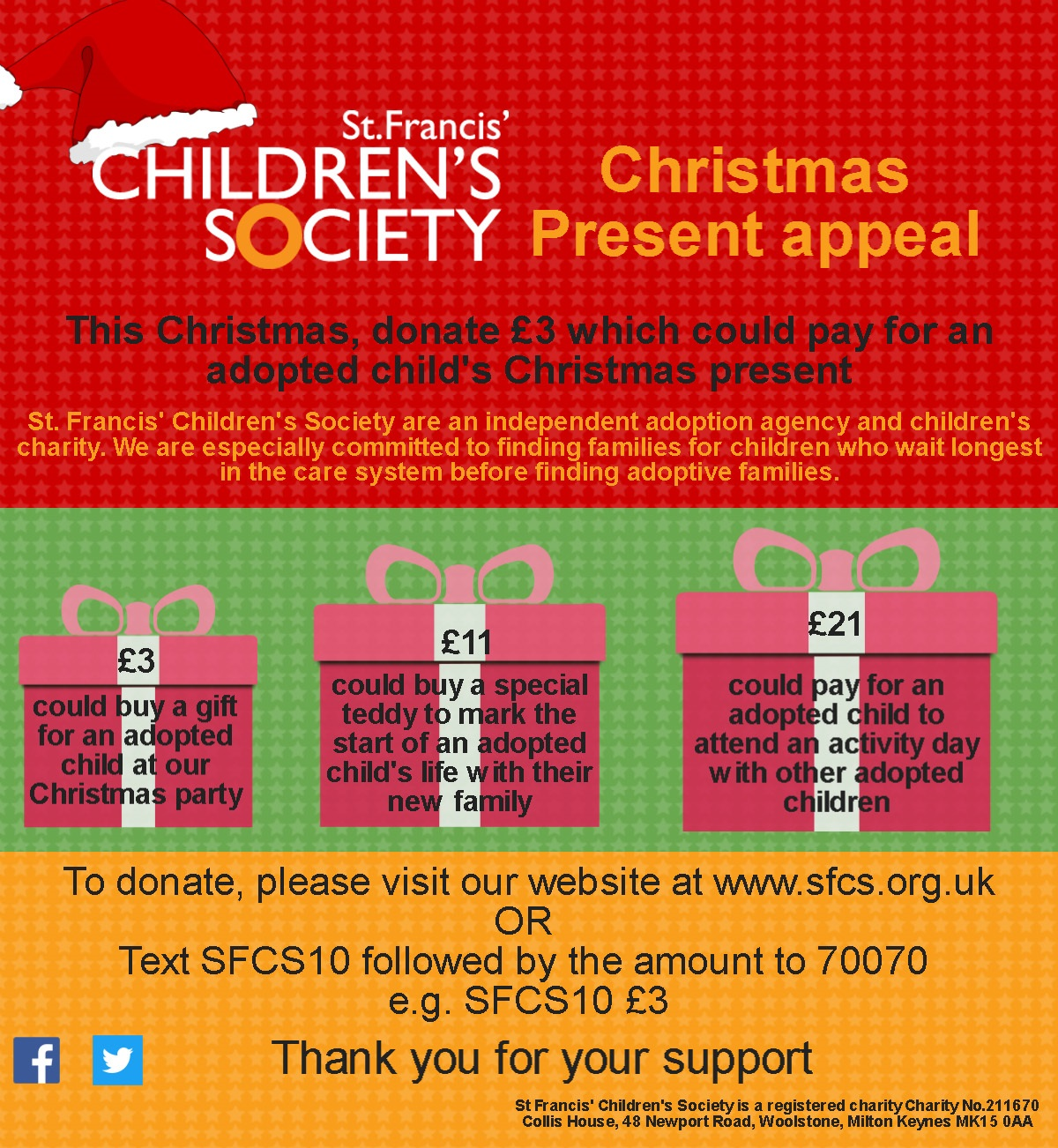 The SFCS Christmas Present Appeal - JustGiving
