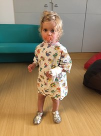 Molly 48 hours after surgery - walking again