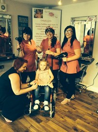 Hair by Me Cut-a-thon £1000 raised. Thank you