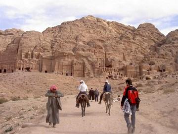 Trekking to Petra