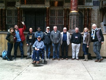 The Biscuit Poets at the Globe Theatre