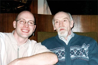 Dad & me in 1999. Alzheimers has aged him significantly in 6 years.