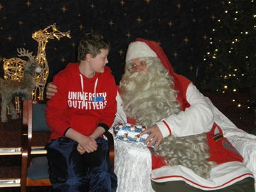 """Hannah in Lapland with the """"Real"""" Santa"""