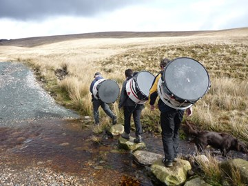 Batala Three Peaks Team in training