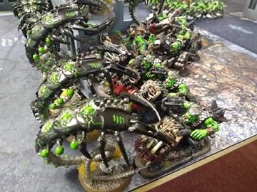 A Warhammer 40,000 game in progress