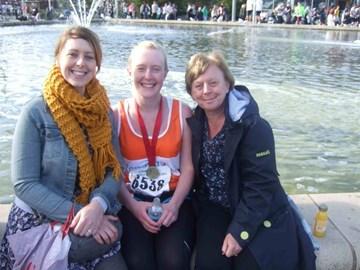 After the Cardiff Half Marathon.