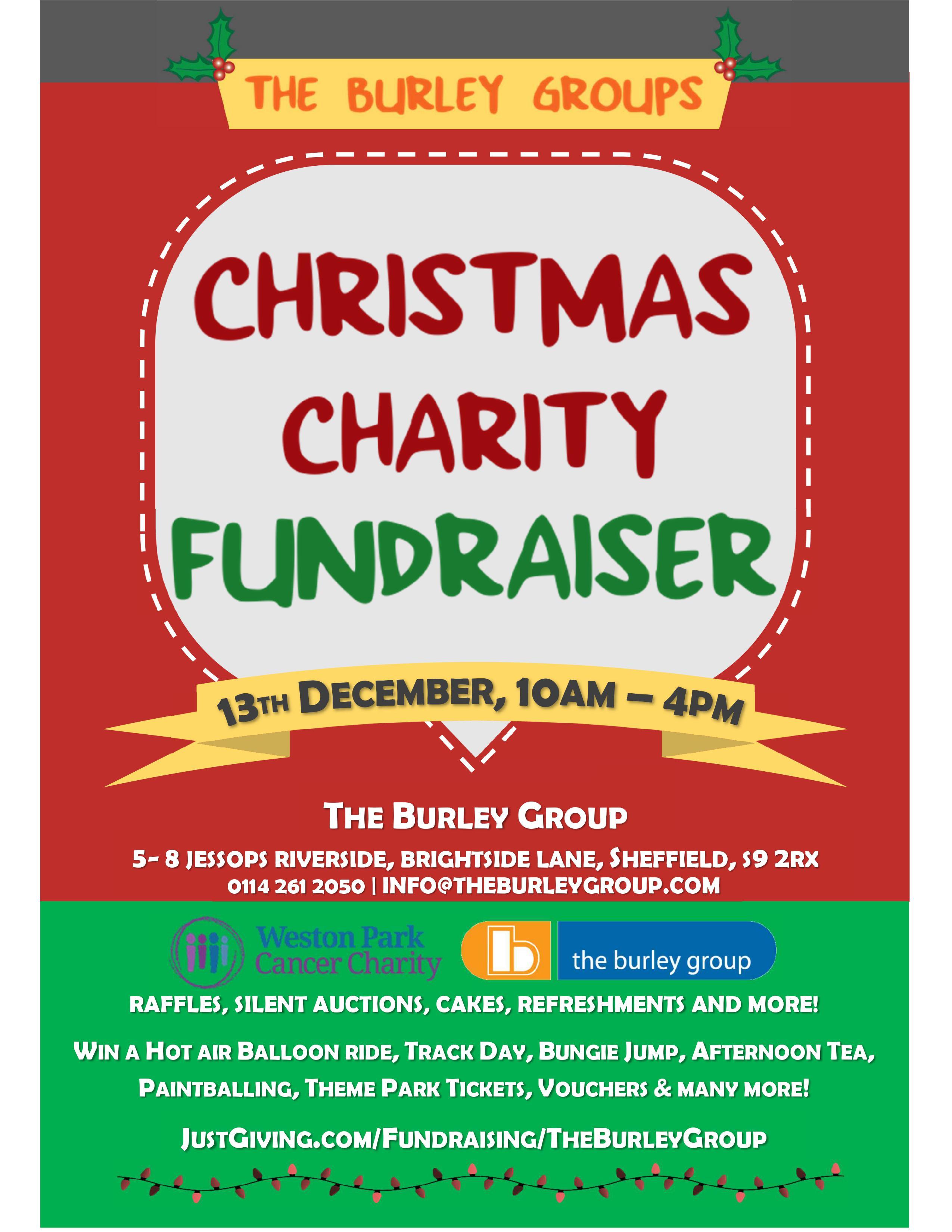 Christmas Fundraiser Flyer.Stella Sedgwick Is Fundraising For Weston Park Hospital