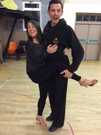 Lynn with dance partner Chris