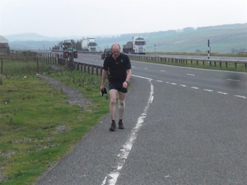 Weary end of day 5 on the A66