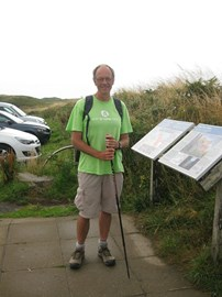 Near St Govan's chapel on the wonderful Pembrokeshire Coast Path.