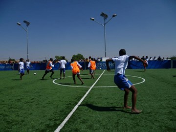 Tournament at the Kick4Life Center Opening