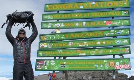 Uhuru Peak; the highest point in Africa