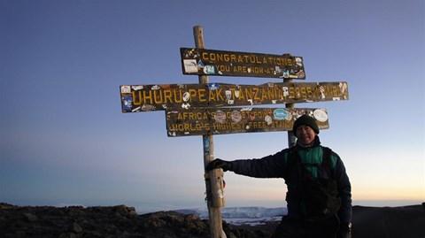 On top Kilimanjaro, 6:24am 17 July 2011
