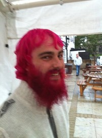 Me at 9 months, I decided to dye it pink