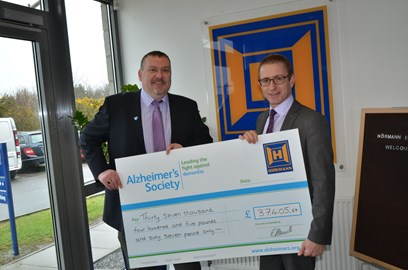 David Newcombe with Ray Nash from the Alzheimer's Society