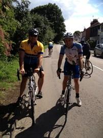 Darren & Matt Training (in the wrong direction)!!