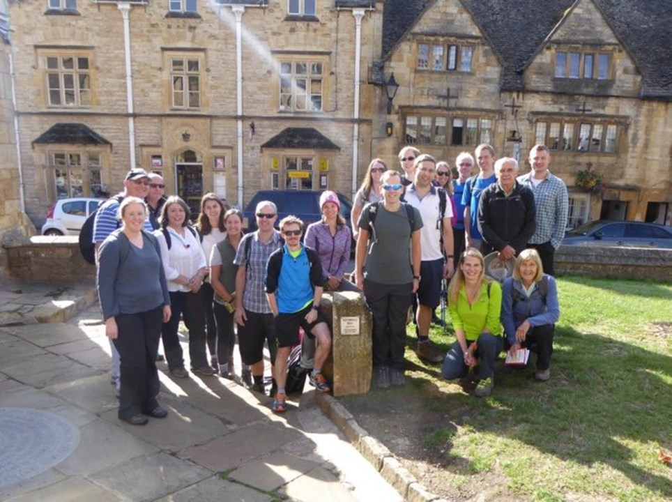 Rich's colleagues on their Cotswold Way Adventure!