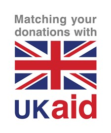 All donations will be doubled by UK aid!